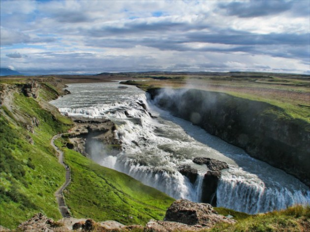 Gullfoss is one of the most popular tourist attractions