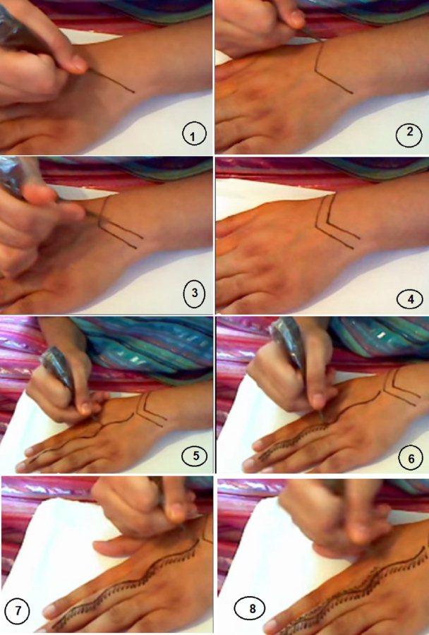 طريقة رسم الحناء بالصور شرح مفصل المرسال