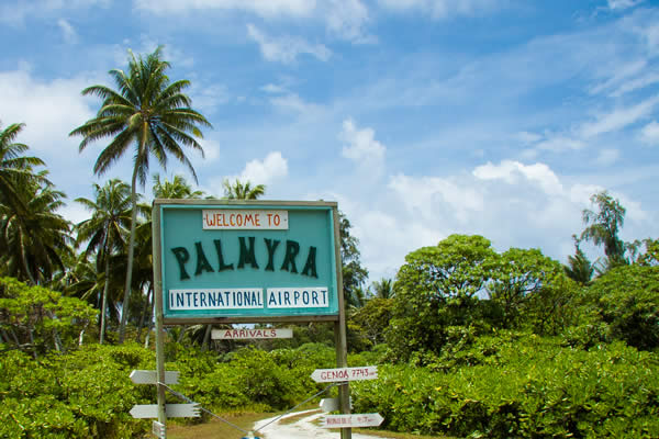 Palmyra Atoll Sign