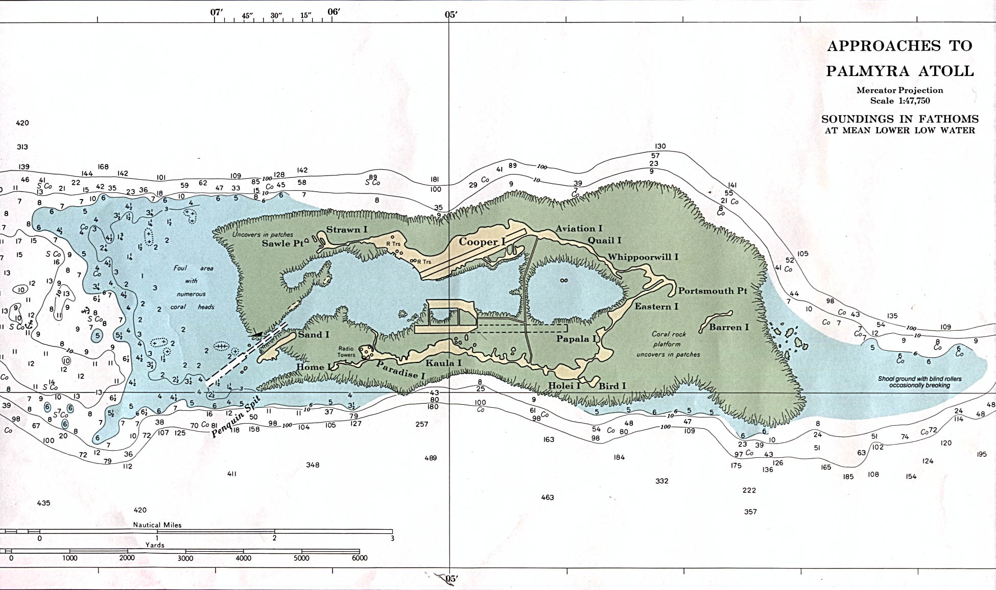 Palmyra's North Beach map