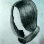 طريقة رسم الشعر بالقلم الرصاص