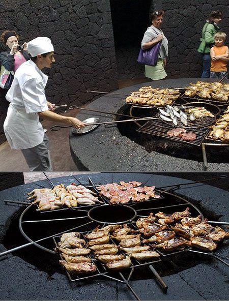 مطعم يشوي طعامه بركان