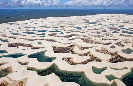 الحديقة الوطنية البرازيلة التي تأخد الرمال فيها أشكال غريبة