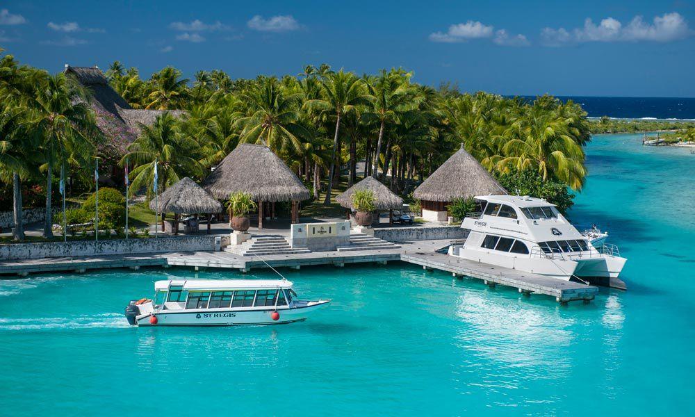 موقع منتجع St Regis Bora Bora