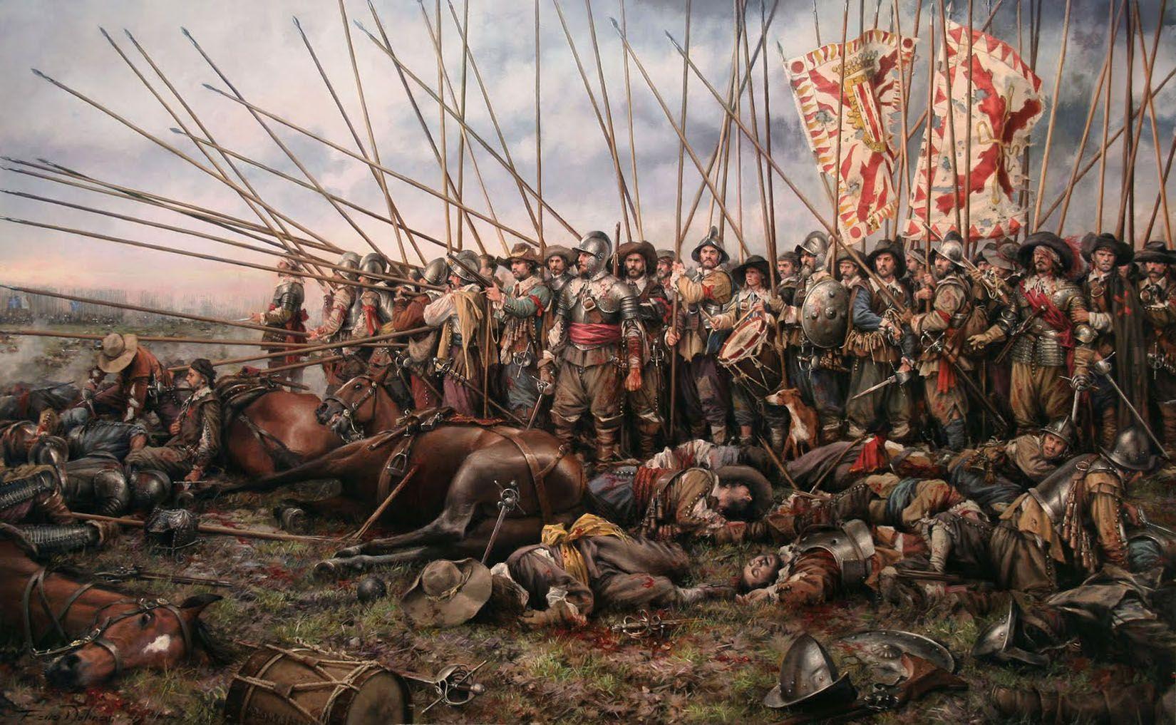 Batalla de rocroi por Augusto Ferrer Dalmau