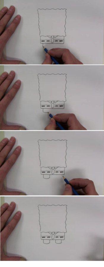 تعليم الرسم كيف ترسم سبونج بوب خطوة بخطوة للمبتدئين Youtube