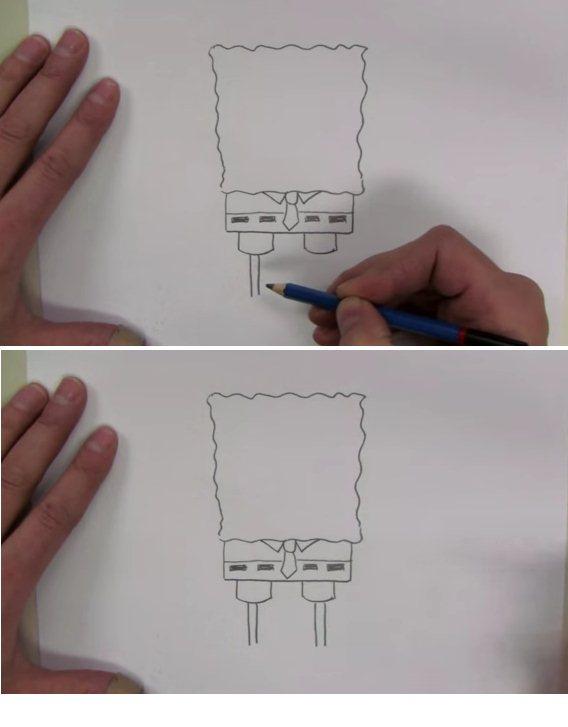 طريقة تعليم رسم سبونج بوب المرسال