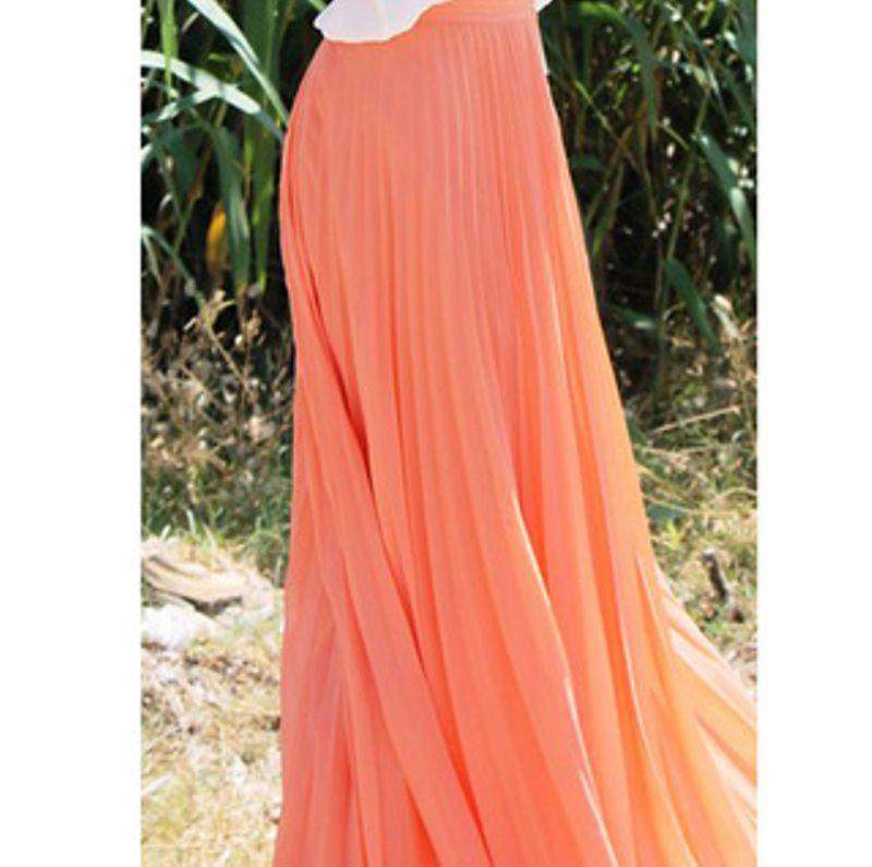 تنورة برتقالي