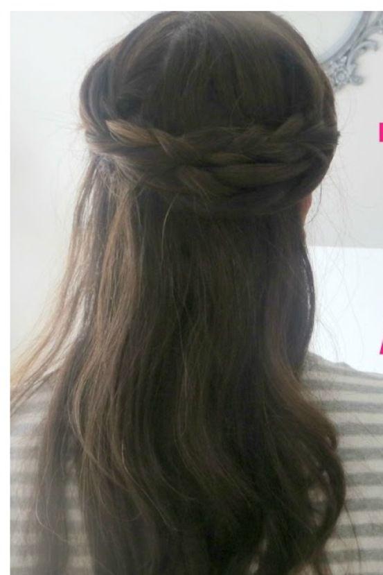 تسريحات للمدرسة بنات الابتدائي المتوسط Plait-with-long-hair