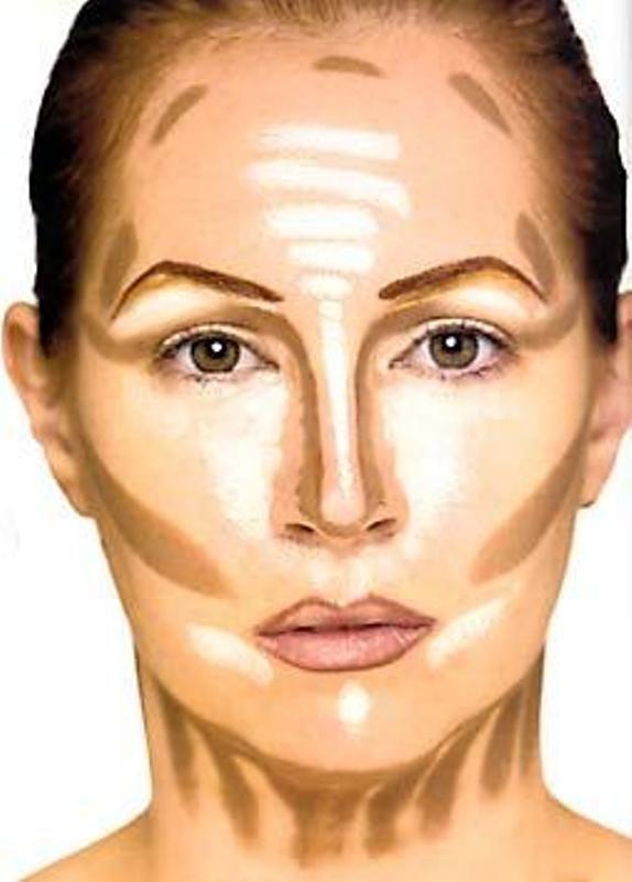 2b8afdffb30f6 طريقة مكياج الوجه النحيف