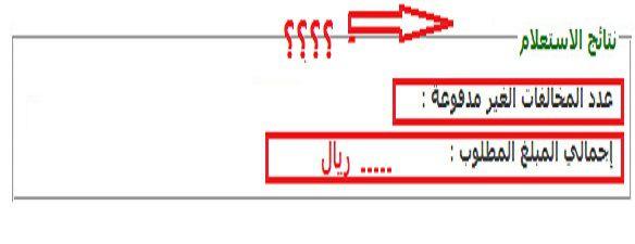 بالصور طريقة معرفة المخالفات المرورية The-query-result.jpg