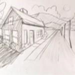 طريقة رسم بيت شعبي بالصور