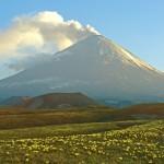 فيديو ثورة البركان في جزيرة كامتشاتكا