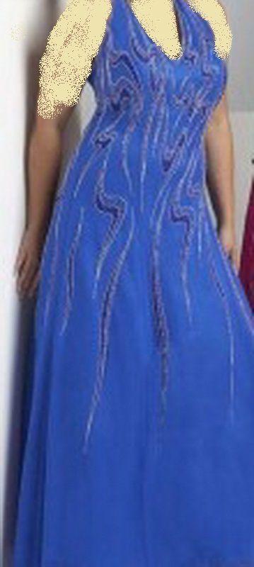 فستان أزرق