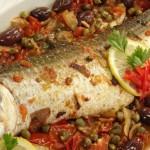 طريقة صينية السمك بالبطاطس والزيتون