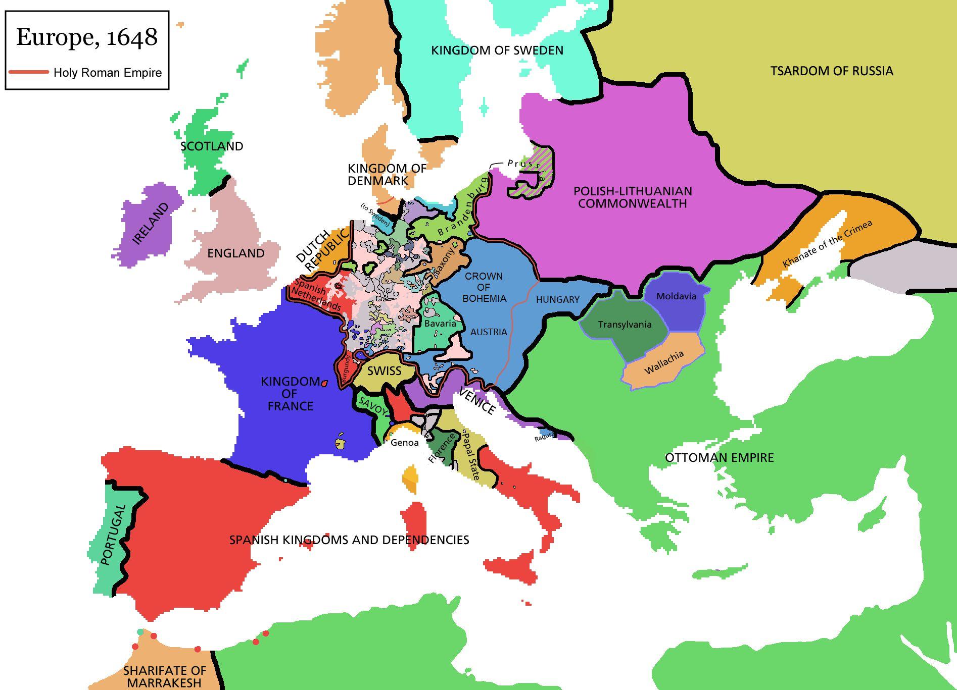 Westphalia map