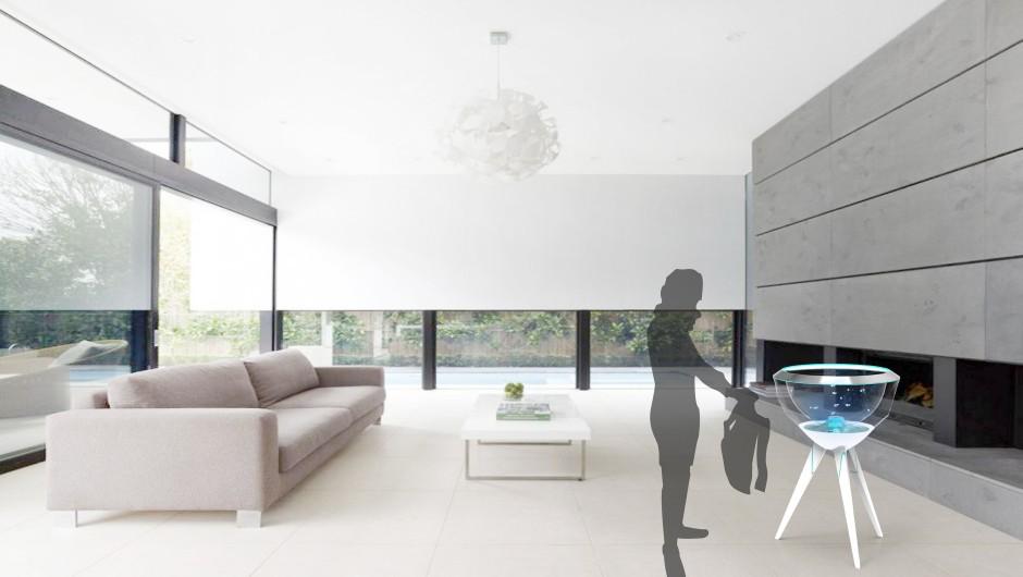 Pecera of interior element