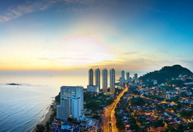 Aeral view of Penang Island