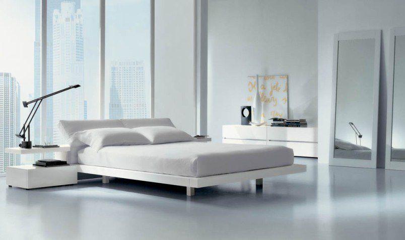Modern white sleeping room for Letti moderni design