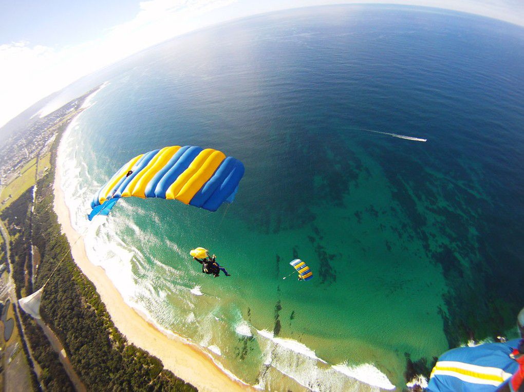 The Wollongong Beach Skydive