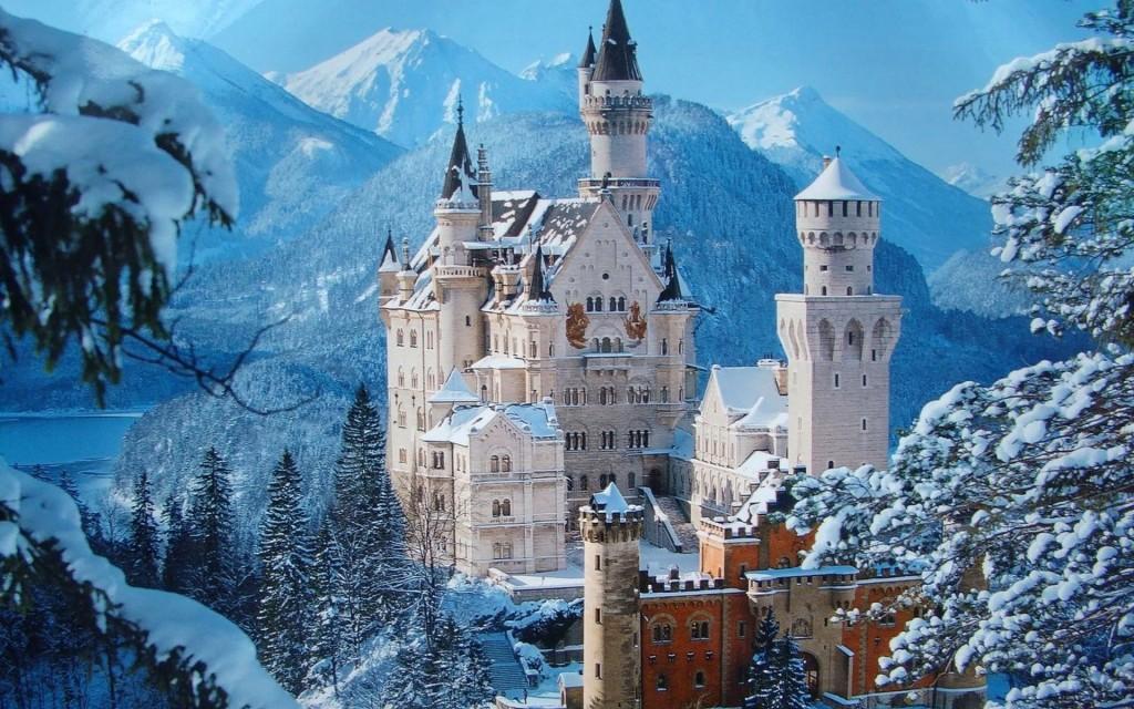 le chateau en neige allmagne
