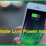 تفعيل ميزة Low Power mode للمحافظة على بطارية الأيفون