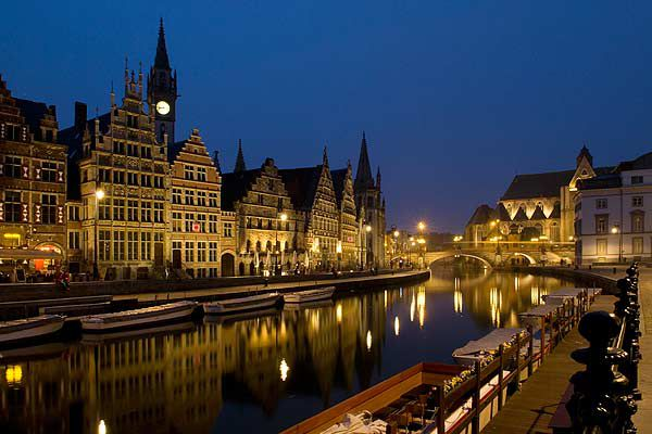 Ghent was founded in the 7th Century, on the confluence of the rivers Scheldt and Lys, and called Ganda.