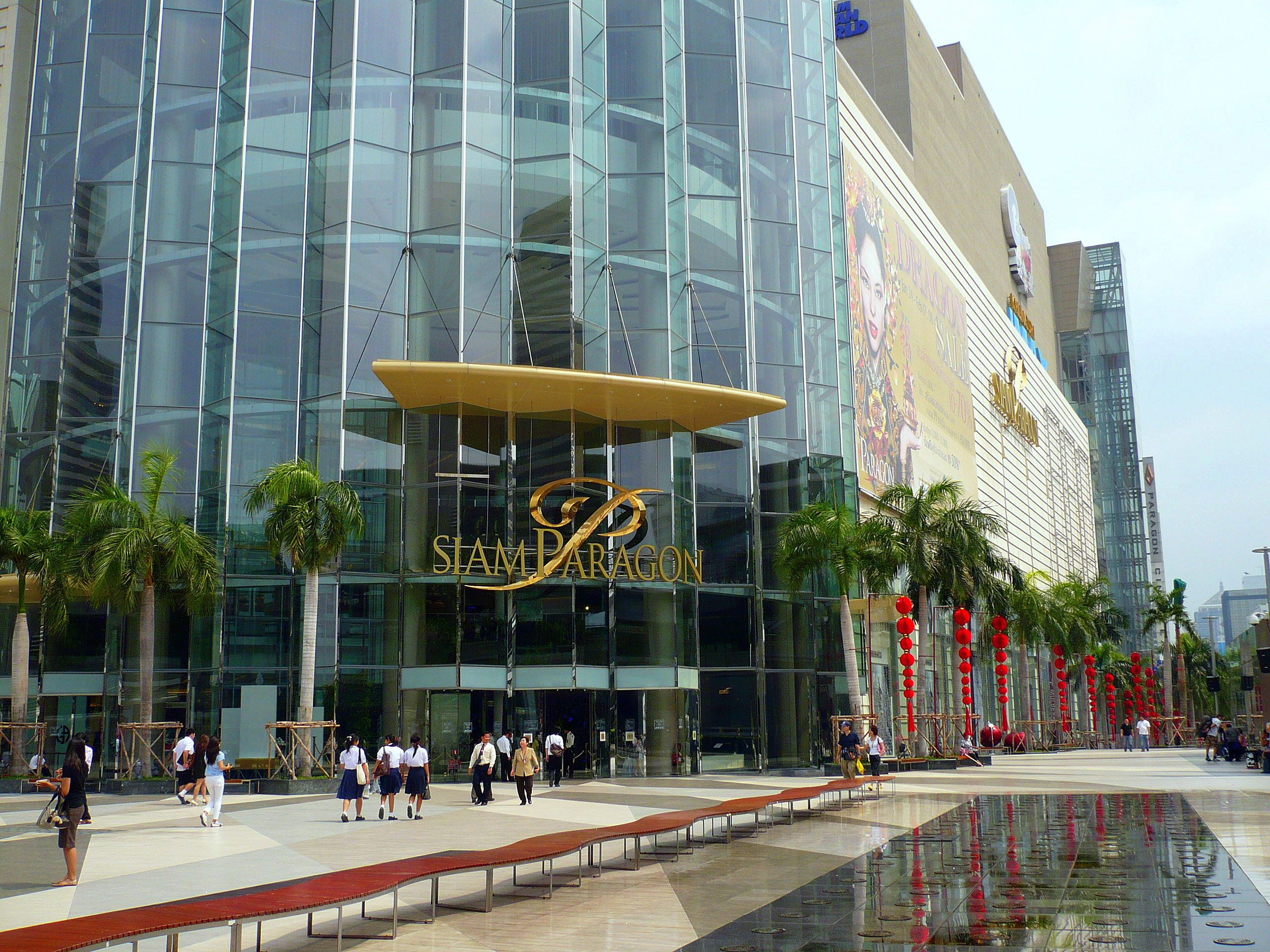 Siam Paragon is on Rama I Road in Pathum