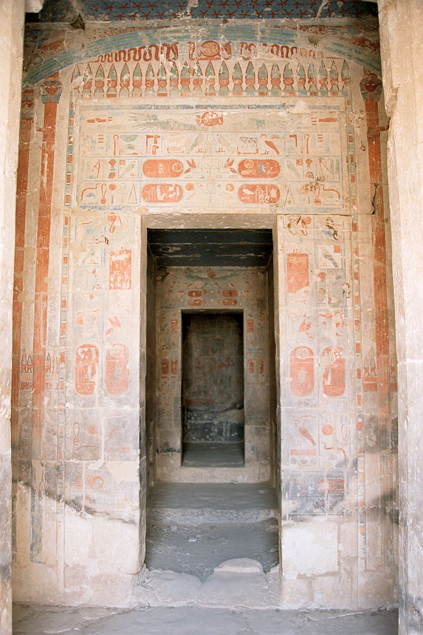 sanctuary inside Temple of Hatshepsut