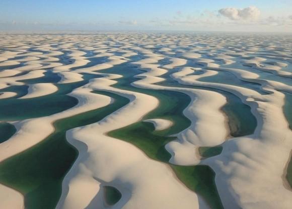 صحراء الرمال البيضاء ذات الاسماك