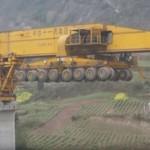 شاهد تقنية صينية جديدة لبناء الجسور