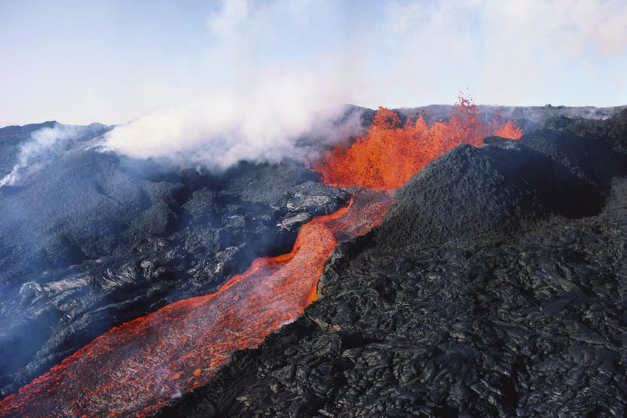 Mauna Loa is one of five volcanoes