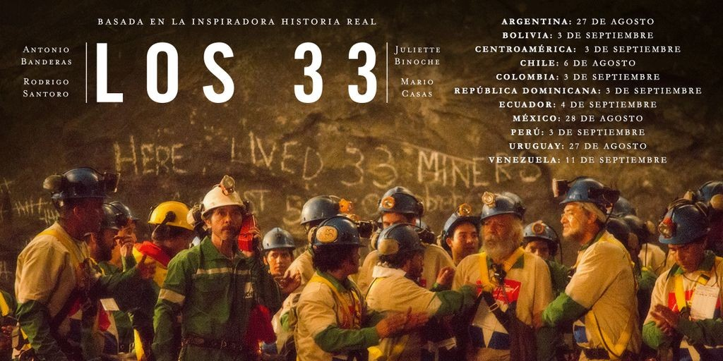 """los 33 The story of a """"THE 33"""" movie The story of a """"THE 33"""" movie los 33 1024x512"""