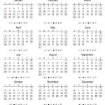 ترتيب شهور السنة الميلادية