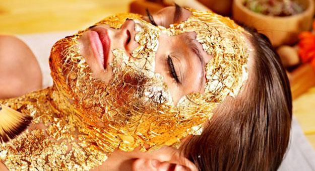 قناع الذهب لبشرة مثالية!