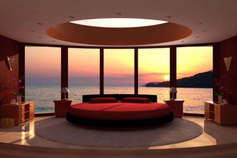 السرير بالألوان الساخنة