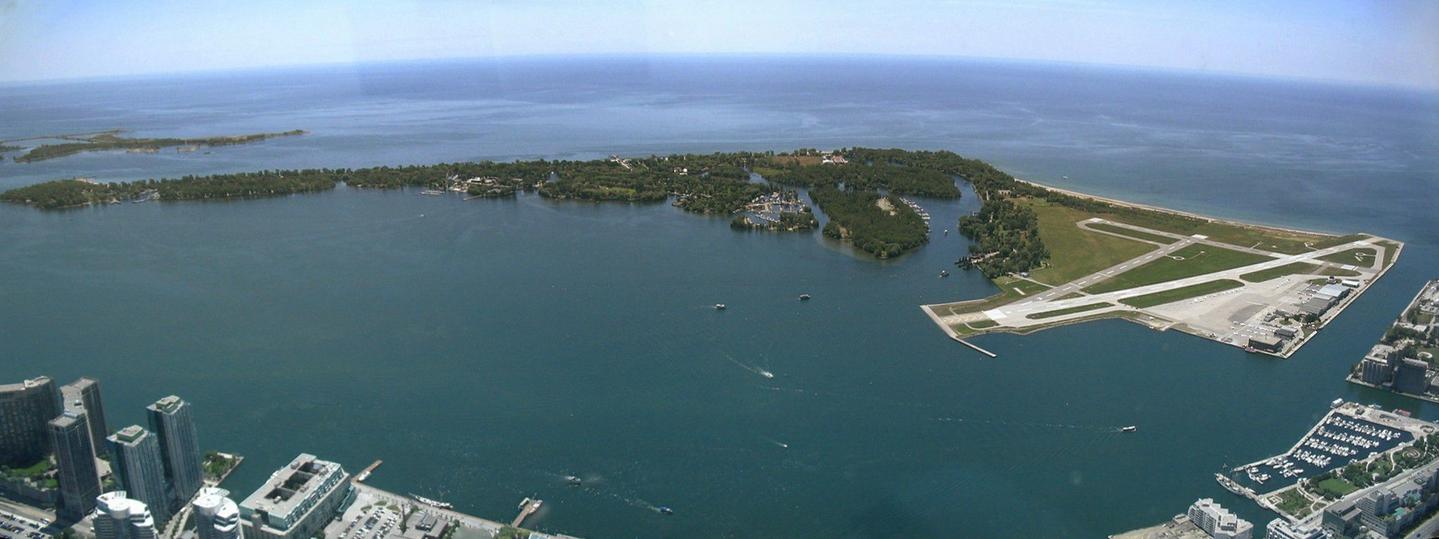 Panorama of Toronto Islands