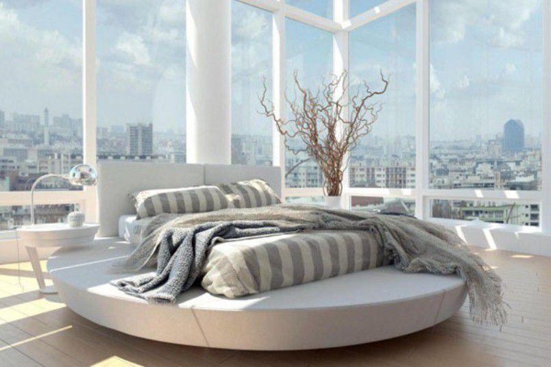 Round bed base
