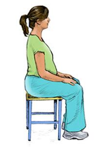 أوضاع الجلوس للحامل