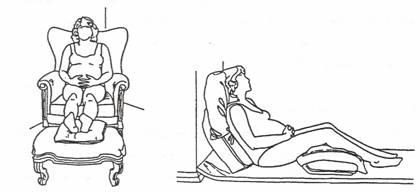 فرد الأرجل أثناء الجلوس