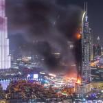 """مصور يحول مشهد احتراق فندق دبي إلى قطعة فنية بديعة """" فيديو """""""