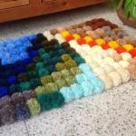 عمل سجادة بسيطة ملونة