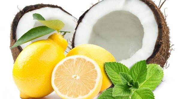 عصير الليمون وحليب جوز الهند