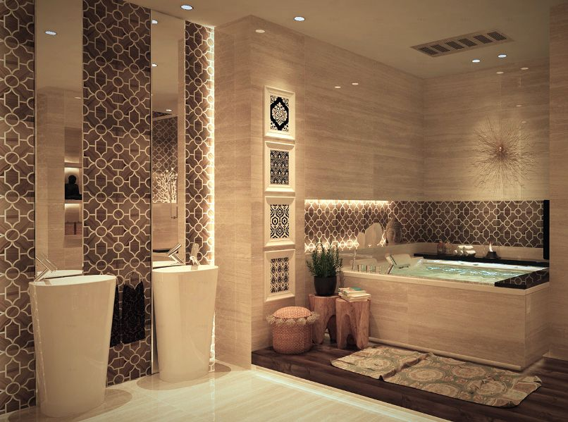 تصاميم حمامات عربية كلاسيكية   المرسال