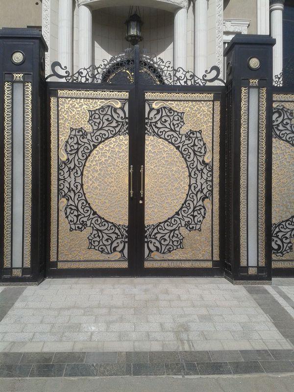 Glass and iron door