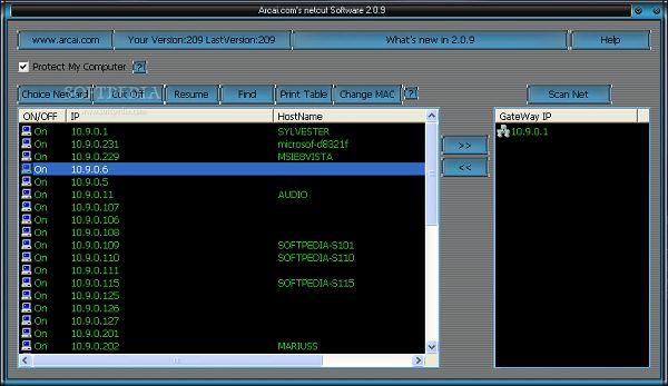 Program Interface NetCut