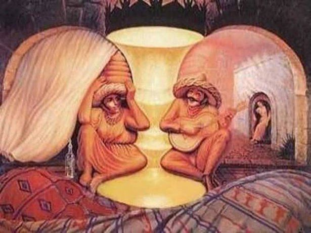 optical Man and Woman