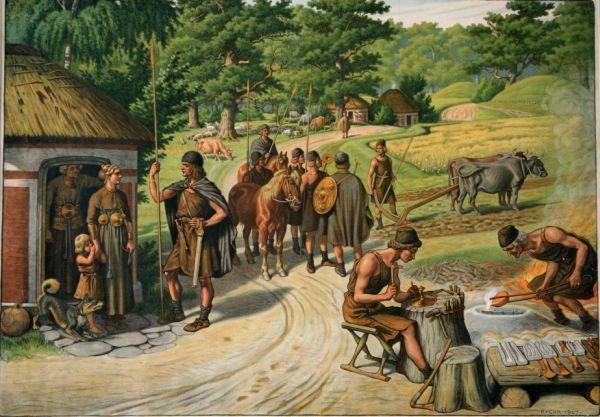 العصر البرونزي A-scene-from-bronze-age-Europe.-Five-men-are-engaged-in-the-complex-process-of-.jpg