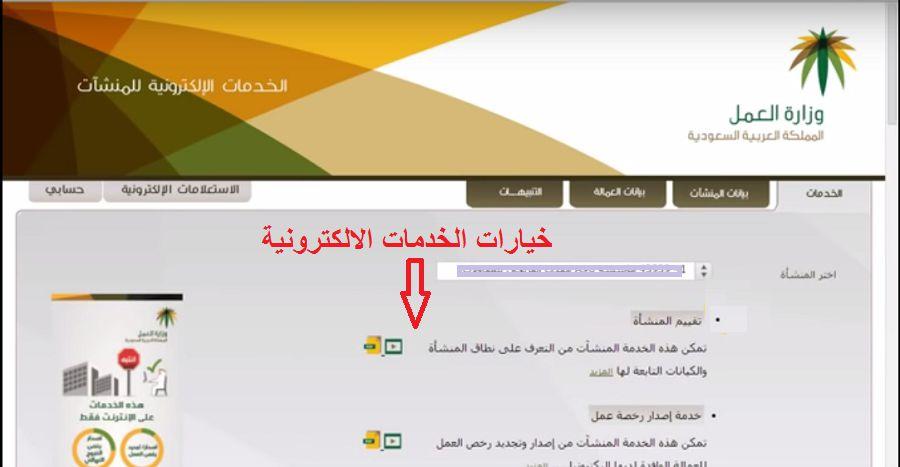 الخدمات الالكترونية المتاحة من قبل وزارة العمل السعودية