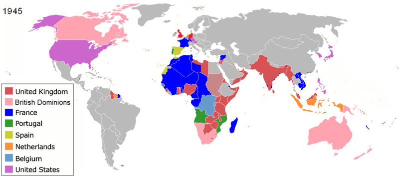 the colonies of various nations